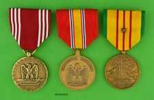 VIETNAM WAR 3 ARMY SERVICE MEDALS - Full Size - Made in the USA