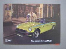 MG  MGB  brochure / Prospekt  1975.