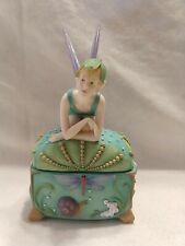 Vtg Westland Giftware Amberwood resin fairy trinket box 8951 G.G. Santiago;Nwob