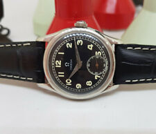 USED VINTAGE OMEGA BLACK DIAL SUB SECOND WHEEL MANUAL WIND MAN'S WATCH