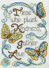Cross Stitch Kit ~ Design Works Inspirational Butterfly Kindness Saying #DW2894