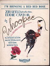 I'm Bringing A Red Red Rose 1930 Eddie Cantor Whoopee Sheet Music