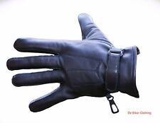Leather Motorcycle Gloves - 3 Pleat - Comfortable Fit - Oz Biker - Size: X-LARGE