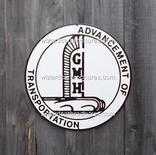 """GMH HOLDEN AUST 14"""" DIA - 355mm HEAVY GAUGE METAL STEEL GARAGE SIGN - NOT TIN"""