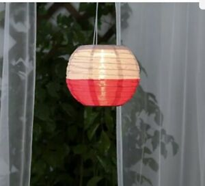 "New IKEA Solvinden white,Pink Solar Powered decorations Lights globe 9x8"""