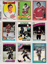 LOT 19 CARTES DE MARCEL DIONNE INCLUE SA CARTE RECRUE 1971-72 OPC # 133 ROOKIE