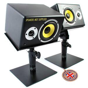 Pair of Adjustable Desktop Speaker Stands for Studio monitors, bookshelf, cinema