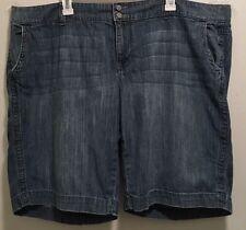 Retro Vintage Boho Old Navy Light Wash Low Rise Denim Jean Shorts 22w