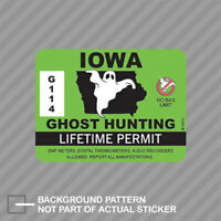 Canada Ghost Hunter Hunting Permit Decal Paranormal Canadian Vinyl Sticker EVM