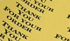 325 x Thank You for Your Order Labels Gold Rinsewash Matte Labels Stickers