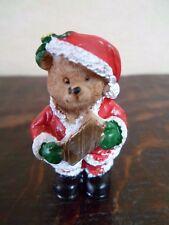 Ours Père Noel  - Miniature - H : 4 cm - 2 Photos