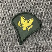 Vintage US Army Specialist Rank Patch Green with Gold Eagle Vietnam