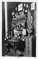 Interior View of Den Animal Skins  Real Photo Antique Postcard J41160