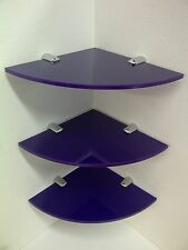PERSPEX ACRYLIC CORNER DISPLAY SHELVES FOR HOME RETAIL SALOONS & HOTELS x 3