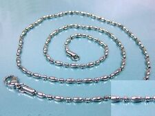 """Stainless Steel 316L Chain Necklace Hypoallergenic 2.4mm 24""""  *  US Seller  *"""