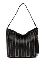 Urban Expressions Nicola Studded Vegan Leather Hobo Shoulder Bag
