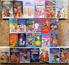 25 Children's Animated Christmas VHS Disney~Grinch~Frosty~Rudolph~Pooh & More!!