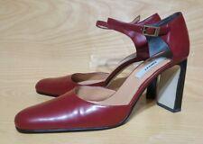 DKNY Slingback Block Heels Red Womens Shoes 8 M