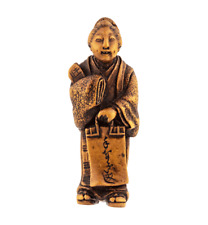 An Antique 19th Century Japanese Wooden Carved Figure Netsuke
