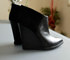 Ladies Black Wedge Ankle Booties by Bally, size 9US (39), excellent condition