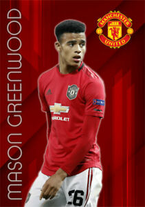 Mason Greenwood Poster Manchester United FC Football Wall Art A3 and A4