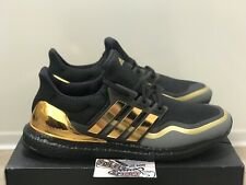New Adidas Ultra Boost Metallic Gold Black Running Shoes EG8102 Mens Size