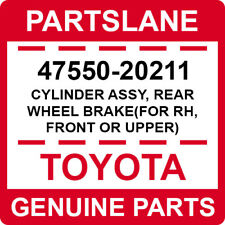 47550-20211 Toyota OEM CYLINDER ASSY, REAR WHEEL BRAKE(FOR RH, FRONT OR UPPER)