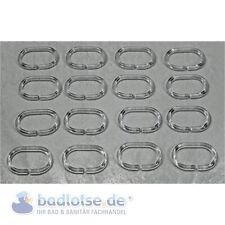 Kleine Wolke duschvorhang-ring 16-piezas OVALADO Abierto Transparente duschring