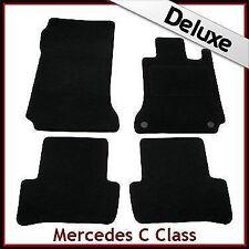 Tailored Carpet Mats LUX 1300g for MERCEDES C-Class W204 Auto 2007-2014 BLACK