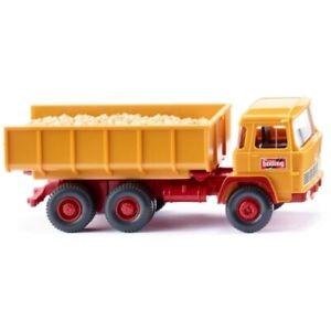 WIKING camion à benne miniature 1:87 Magirusorange/rouge