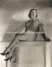 1930s ACTRESS MARILOU DIX  LEGGY IN A SHORT SKIRT AND HEELS 8 X 10 PHOTO A-MDIX