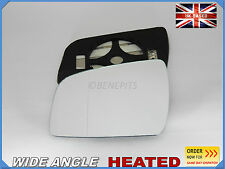Wing Mirror Car Glass For VAUXHALL ZAFIRA 2010-12 Wide Angle HEATED Left  #F039