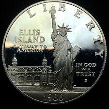 1986 S STATUE OF LIBERTY ELLIS ISLAND COMMEMORATIVE PROOF SILVER DOLLAR COIN.