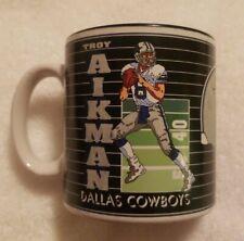 VINTAGE Sports Impressions 1992 Dallas Cowboys Troy Aikman Mug Cup
