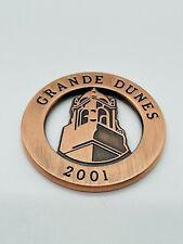 Grande Dunes Resort Golf Club Myrtle Beach SC Copper Ball Marker Coin Mint Rare
