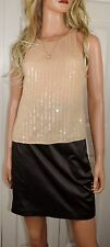 NWT ALICE & OLIVIA by Stacey Bendet Beaded Silk Tank Size XS