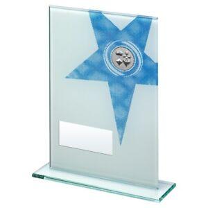 Blue Star Glass Award Cards Trophy - FREE Engraving 3 sizes Poker game blackjack