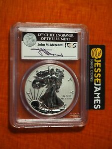 2011 P REVERSE PROOF SILVER EAGLE PCGS PR69 FS MERCANTI SIGNED FROM 25TH ANN SET