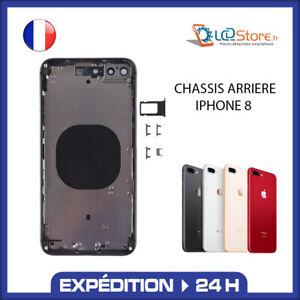 Châssis arrière Iphone 8 Noir Or Blanc Rouge (Logo, ce ....)