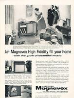 1958 Magnavox High Fidelity Radio Stereo - Vintage Advertisement Print Ad J484