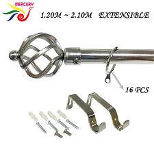 Poste extensible de valor cepillado Cortina/Juego De Caña-Extensible 120-210 cm