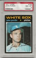 1971 TOPPS #748 JOHN PURDIN, PSA 8 NM-MT, HIGH #, SHORT PRINT, CENTERED, TOUGH