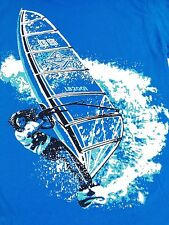 Vintage Ride The Wave shirt 1990s Wind Surfing Boho Beachwear Surfer M