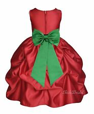APPLE CHRISTMAS RED DRESS WEDDING BRIDESMAID FLOWER GIRL Pageant 2 3 4 5T 6 8 10