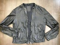 *RARE* AllSaints L COLLIDE Leather Bomber Biker Jacket Iconic Tom Cruise SlimFit