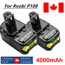 2×18V 4.0AH For Ryobi One+ Plus P108 Lithium Battery P104 P105 P102 P103 P107 CA