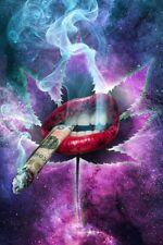 SKY HIGH - LIPS SMOKING - WEED POSTER 24x36 - MARIJUANA POT SEXY 52901