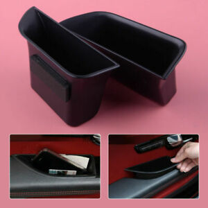 Accessories Storage Box Secondary Fit for Jaguar XF 2008-2015 Door 2Pc Tray Case