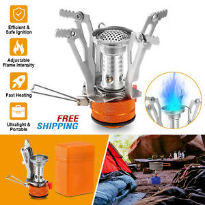 Portable Mini Backpacking Outdoor Gas Butane Propane Canister Camp Stove Burner