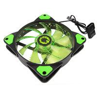 GameMax 15x Green 12CM 120mm Fan Cooler Case PC Computer Cooling 3 / 4 Pin